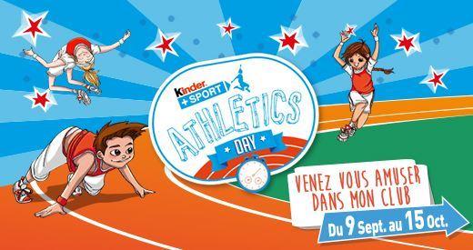 L'opération « Kinder+Sport Athletics Day » dans vos clubs FFA