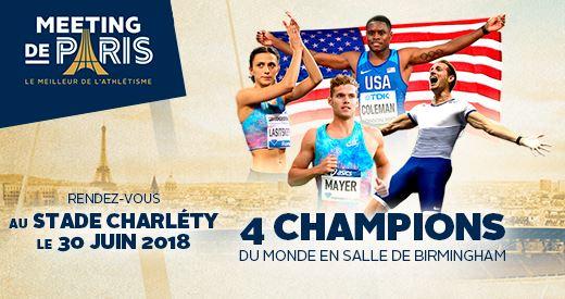 MEETING de PARIS 2018 : Les champions du Monde ont rendez-vous a Paris