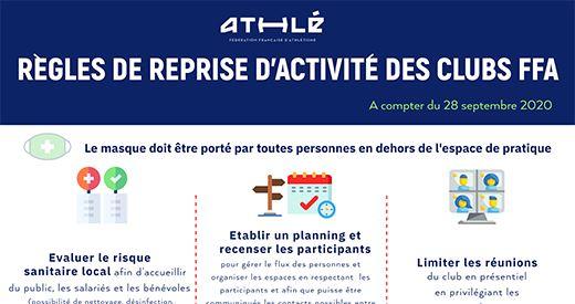 Covid-19 : Adaptations de l'activité athlétique