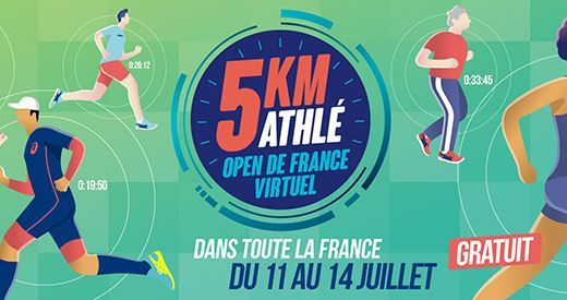 5 km Athlé Open de France virtuel : Déjà plus de 8000 inscrits