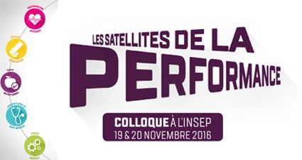 Colloque « Les satellites de la performance » les 19 et 20 novembre 2016 à l'INSEP