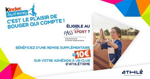 Pass'Sport x Ferrero : 60 € de réduction, une adhésion à petit prix